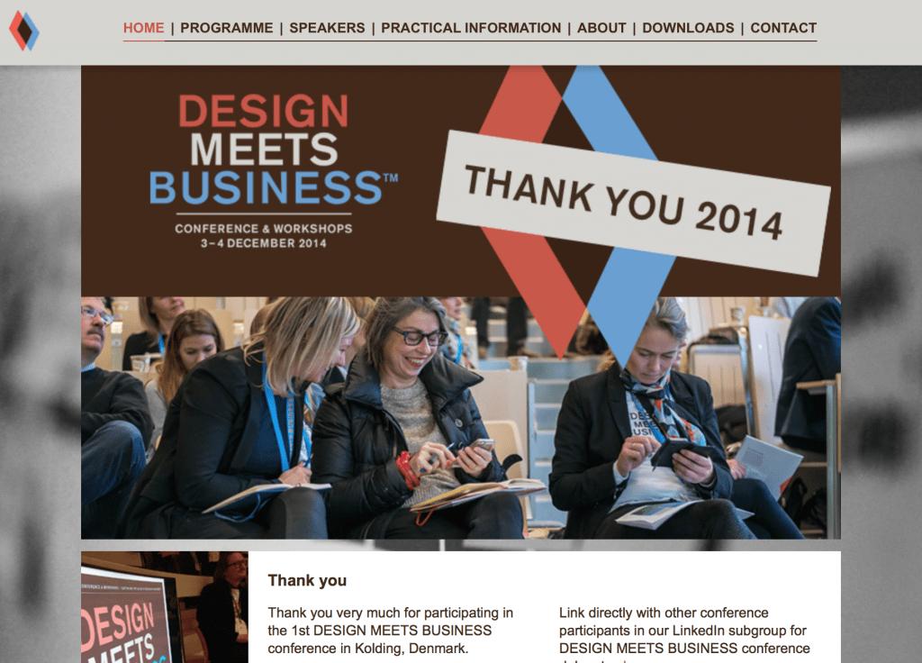 Hjemmeside for konference. Tryk på billedet og se mere